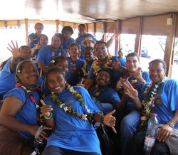 new caledonians on bus